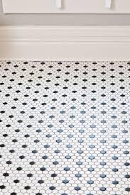 white bathroom floor:  ideas about penny tile floors on pinterest tile flooring s bathroom and blue penny tile
