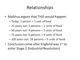 malthus overpopulation extremely important  thomas malthus  st to    relationships malthus argues that this would happen  – today   person    unit