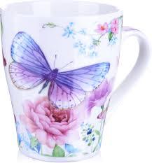 """<b>Кружка Loraine</b> """"<b>Бабочка</b>"""", цвет: белый, коричневый, розовый ..."""