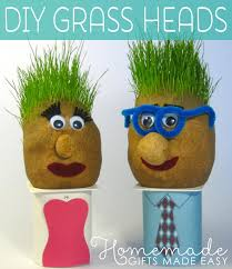 Cutest Grass <b>Heads</b> - Step by Step Instructions to Make