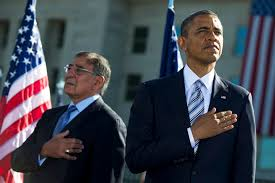 u s department of defense photo essay martin e defense secretary leon e panetta and president barack obama render honors as the national anthem