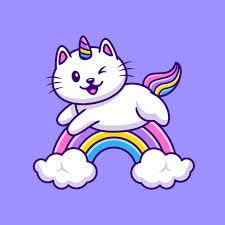 Free Vector | <b>Cute cat</b> unicorn flying cartoon illustration. animal ...