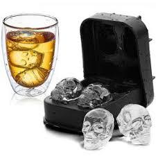 Ice Cube Tray Flexible <b>Silicone Mold</b> Silicone Whiskey <b>3D Skull</b> ...