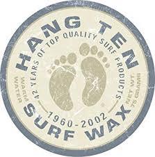 Desperate Enterprises Hang Ten Surf Wax Tin Sign ... - Amazon.com