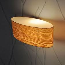 lighting light fittings lights modern curved oval wood veneer up amp down indoor wall light fittings