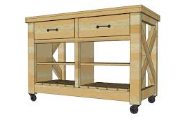 rustic kitchen island: free plans to build rustic x kitchen island double width from ana whitecom