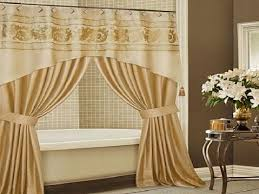 curtain valances bathroom traditional image of top shower curtains with valance