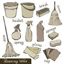 housekeeping images stock pictures royalty housekeeping housekeeping cleaning tools collection illustration