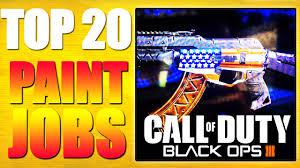 top paint jobs in black ops paint shop ep top top top 20 paint jobs in black ops 3 paint shop ep 1 top 20 top twenty