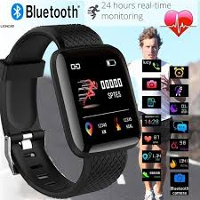 <b>New</b> square screen smrat Watch <b>116 PLUS</b> Health Monitoring Smart ...