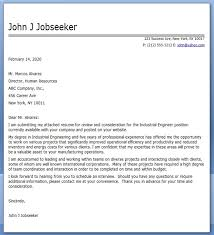 industrial engineer cover letter examples industrial engineer cover letter