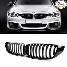 SNA Gloss Black ABS Front Kidney Grille with Single ... - Amazon.com