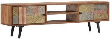 Furniture Supplies UK <b>TV Cabinet 140x30x40</b> cm Solid Acacia Wood