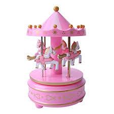 JIUYAODIANZI Carousel Music Box <b>Cake Decoration Ornaments</b> ...