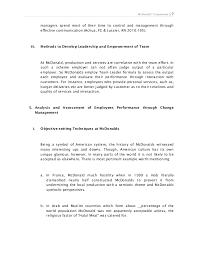 Business ethics of McDonald     s Dissertation proposal   www vegakorm com Academy essay The best essays only from us    Tuars com David W  McDonald  PhD