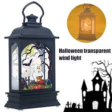 <b>Halloween</b> Hanging <b>LED</b> Lantern <b>Decorative</b> Transparent Lights ...