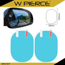 <b>1 Set</b> 2PCS <b>Car</b> Mirror <b>Window</b> Clear <b>Film</b> Anti Dazzle <b>Car</b> Rearview ...