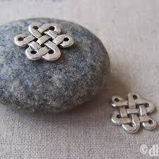 <b>20 pcs</b> of Tibetan Silver Lovely <b>Chinese Knot</b> Charms 14x17mm ...