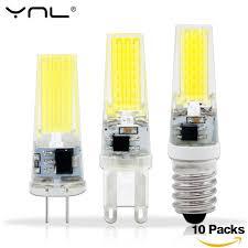 <b>10PCS</b>/<b>Lot</b> Lampada LED <b>G4</b> Lamp AC/DC 12V 220V COB E14 ...