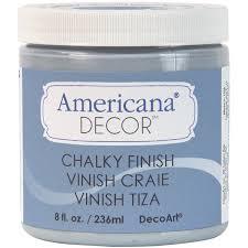 decoart americana chalky finish paint 8oz blue mason jar string lights