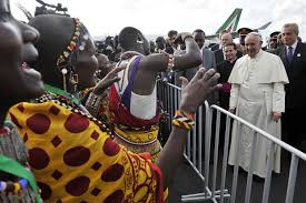 Image result for pope francis in africa