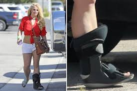 <b>Britney Spears</b> seen wearing medical boot days after former co ...