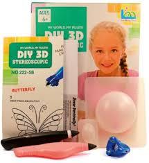 Купить <b>3Д ручка</b> DIY <b>3D Stereoscopic 3D Magic</b> Glue Бабочка 2 ...