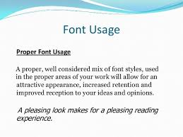 basic font usage for resumes  college students and professionals   font usage proper