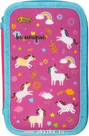 "<b>№1 School Пенал</b> ""Unicorns"", трехсекционный, ткань, 190 х 115 см"