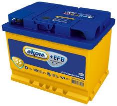Автомобильный аккумулятор <b>Аком</b> + <b>EFB 55</b> — купить по ...
