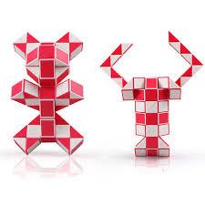<b>Змейка</b> 72 элемента красно-белая | <b>QiYi</b> Magic snake: Купить по ...