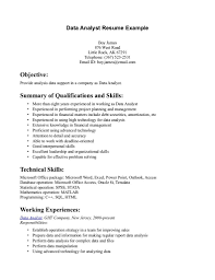data analyst resume template good summary and work experience quality