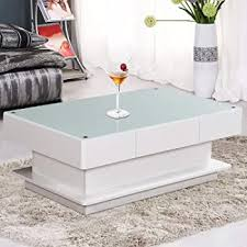 Home, Furniture & DIY Grey <b>High Gloss Coffee</b> Table With LED ...