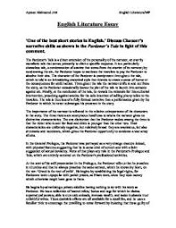 chaucer essay   academic essay canterbury tales the prologue of the essay