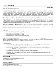 resume assistant store manager sle  seangarrette costore manager resume objective with assistant manager and team supervisor experience store manager job description   resume assistant store manager