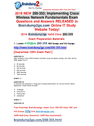 sep new ccna wireless wifund pdf dumps q as offer 2016 sep new ccna wireless 200 355 wifund pdf dumps 410q as offer 31 40 cisco certifications wireless lan