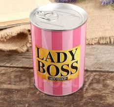 """Сувенир банка """"Lady <b>boss</b>"""" внутри: женские <b>носки</b> 10х7,3х7,3 см ..."""