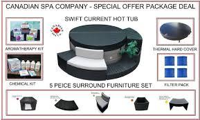 Canadian Spa Swift Current V2 <b>Hot</b> Tub, <b>5 Piece</b> Furniture Surround ...