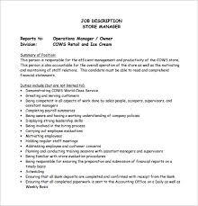 store manager job description templates sample example  store operation manager job description example pdf