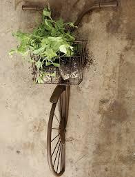 <b>Iron Bike</b> Wall Decor With Basket | <b>Antique</b> Farmhouse