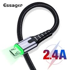 <b>Essager LED</b> Micro <b>USB</b> Cable Fast Charging Data Wire Cord 2m ...