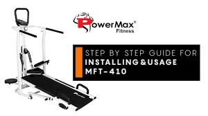 Powermax Fitness MFT-410 <b>Treadmill</b> - Installation & Usage Guide ...