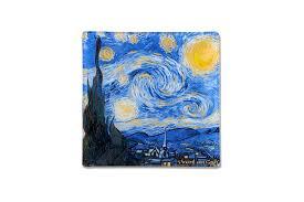 <b>Тарелка квадратная Звездная ночь</b> (Ван Гог) без инд.упаковки