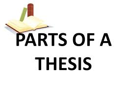 PARTS OF A THESIS     SlideShare