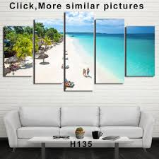 <b>HD</b> Printed <b>5 Piece</b> Canvas Art Tropical Island Painting Tropical ...