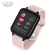 <b>LIGE 2019 New</b> Smart Watch <b>Women</b> Heart Rate Blood Pressure ...