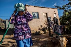 photo essay in south africa a womans struggle to sustain the  shepherd gertruida cloete  prepares for a day following her livestock as they graze