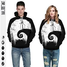 Europe And America Fashion Edition Hoodie <b>Halloween Digital</b> ...