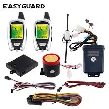 EASYGUARD <b>LCD</b> pager 2 way motorcycle alarm system security ...