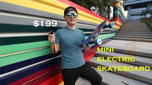 Super Cheap Mini electric Skateboard Review - YouTube